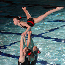 young acrobatic swimmers